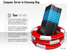 1114 Computer Server In Lifesaving Ring Image Graphics For Powerpoint