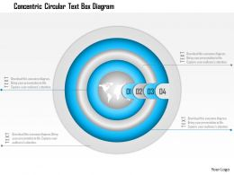 1114 Concentric Circular Text Box Diagram Powerpoint Template