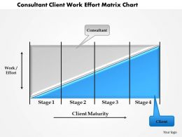1114 Consultant Client Work Effort Matrix Chart Powerpoint Presentation