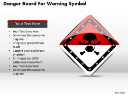 1114 Danger Board For Warning Symbol Powerpoint Template