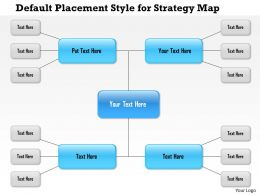 1114 Default Placement Style For Strategy Map Powerpoint Presentation