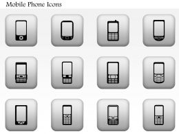 1114 Different Types Of Mobile Phones Editable Icons Ppt Slide
