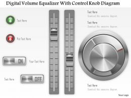 1114 Digital Volume Equilizer With Control Knob Diagram Powerpoint Template
