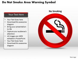 1114 Do Not Smoke Area Warning Symbol Powerpoint Template