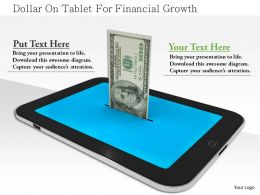 1114 Dollar On Tablet For Financial Growth Image Graphics For Powerpoint