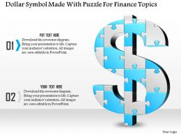 1114 Dollar Symbol Made With Puzzle For Finance Topics Powerpoint Template