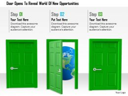 1114 Door Opens To Reveal World Of New Opportunities Image Graphics For Powerpoint