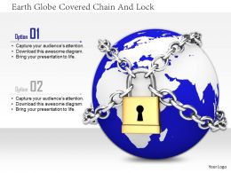 1114 Earth Globe Covered Chain And Lock Image Graphics For Powerpoint