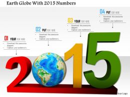 1114 Earth Globe With 2015 Numbers Image Graphics For Powerpoint