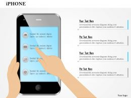1114 Editable Image Of Iphone With Finger Showing Gestures Ppt Slide