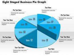 1114 Eight Staged Business Pie Graph Powerpoint Template