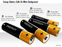 1114 Energy Battery Cells On White Background Image Graphics For Powerpoint