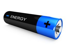 1114 Energy Cell In Blue And Black Color Stock Photo
