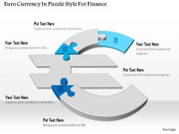1114 Euro Currency In Puzzle Style For Finance Powerpoint Template