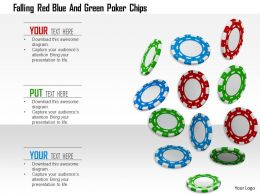 1114 Falling Red Blue And Green Poker Chips Image Graphics For Powerpoint