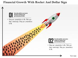 1114 Financial Growth With Rocket And Dollar Sign Powerpoint Template