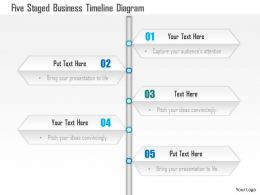 1114 Five Staged Buisness Timeline Diagram Powerpoint Template