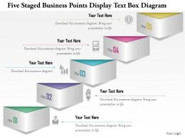 1114 Five Staged Business Points Display Text Box Diagram Powerpoint Template