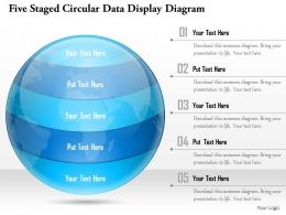 1114 Five Staged Circular Data Display Diagram Powerpoint Template