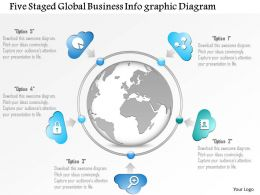 1114 Five Staged Global Business Infographic Diagram Powerpoint Template