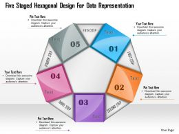 1114 Five Staged Hexagonal Design For Data Representation Powerpoint Template