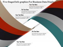 1114 Five Staged Info Graphics For Business Data Display Powerpoint Template