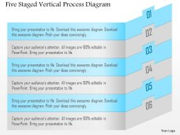 1114 Five Staged Vertical Process Diagram Powerpoint Template