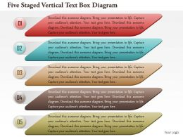 1114 Five Staged Vertical Text Box Diagram Powerpoint Template