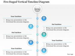 1114 Five Staged Vertical Timeline Diagram Powerpoint Template