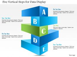 1114 Five Vertical Steps For Data Display Presentation Template
