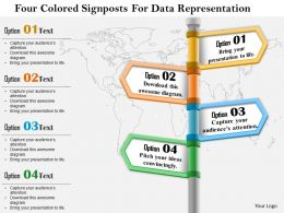 1114_four_colored_signposts_for_data_representation_powerpoint_template_Slide01