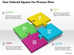 1114 Four Colored Square For Process Flow Powerpoint Template
