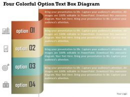 1114 Four Colorful Option Text Box Diagram Powerpoint Template