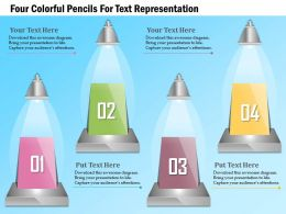 1114_four_colorful_pencils_for_text_representation_powerpoint_template_Slide01