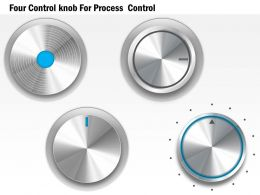 1114 Four Control Knob For Process Control Powerpoint Template