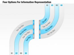 1114 Four Options For Information Representation Powerpoint Template