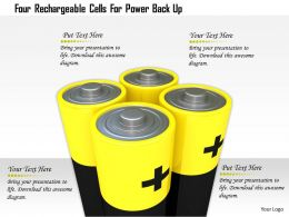 1114 Four Rechargable Cells For Power Back Up Image Graphic For Powerpoint