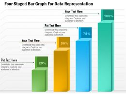1114 Four Staged Bar Graph For Data Representation Presentation Template