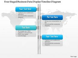 1114 Four Staged Buisness Data Display Timeline Diagram Powerpoint Template
