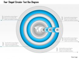 1114 Four Staged Circular Text Box Diagram Powerpoint Template
