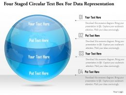 1114 Four Staged Circular Text Box For Data Representation Powerpoint Template