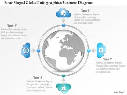 1114 Four Staged Global Infographics Business Diagram Powerpoint Template