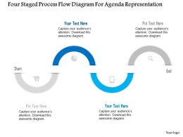 1114 Four Staged Process Flow Diagram For Agenda Representation Powerpoint Template