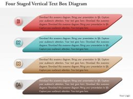 1114 Four Staged Vertical Text Box Diagram Powerpoint Template