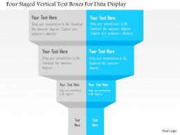 1114 Four Staged Vertical Text Boxes For Data Display Powerpoint Template