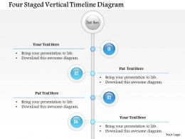 1114 Four Staged Vertical Timeline Diagram Powerpoint Template