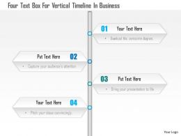 1114 Four Text Box For Vertical Timeline In Business Powerpoint Template