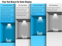1114 Four Text Boxes For Data Display Powerpoint Template