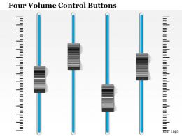 1114 Four Volume Control Buttons Powerpoint Template