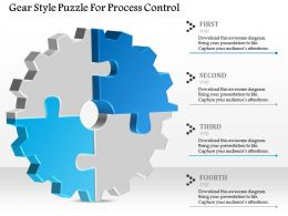 1114 Gear Style Puzzle For Process Control Powerpoint Template